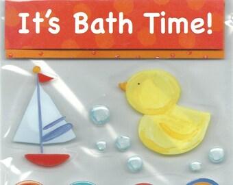 Me & My Big Ideas Brand  --  Dimensional Stickers  --  Bath Time  -- 9 pieces  --  NEW  (#1222)