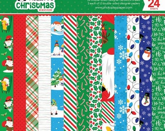 6 x 6 Paper Pad ~ Gnome For The Holidays CHRISTMAS  ~ Double sided NEW (#3785)