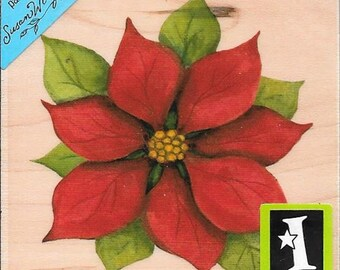 Poinsettia Stamp -- NEW -- Wood Mounted Rubber Stamp --   (#2963)