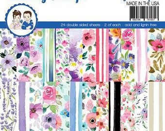 6 x 6 Paper Pad ~    Fabulous Florals    ~ Double sided NEW (#3883)