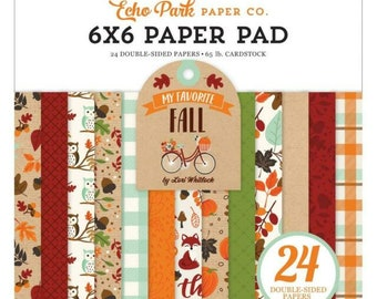 6 x 6 Paper Pad ~ My Favorite Fall ~ Double sided NEW (#4134)