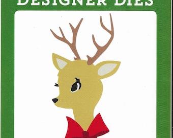 Carta Bella - Reindeer & Bow Die set   -  NEW  (#3382)