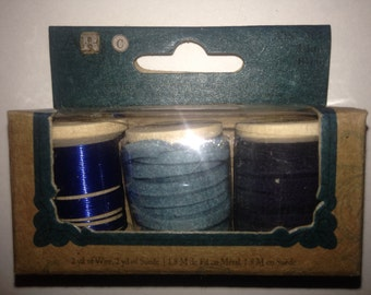 Art Brand   --  Mixed Media Kit  --  Wire & Suede   --   (Blue)  --  NEW   --   (#811)