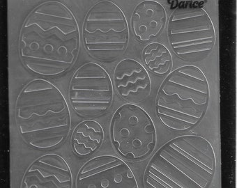 Darice Embossing Folder -- New -- Easter Egg Assorted -- (#3106)