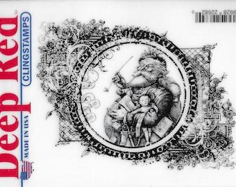 Deep Red Cling Stamps --   Vintage Santa   -- NEW -- (#3466)