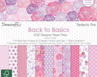 6 x 6 Paper Pack ~~ Perfectly Pink ~~ Dovecreaft Brand ~~ NEW (#2746)