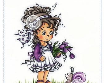 Whimsy Stamps -- Loli and Shellie -- NEW -- (#2225)