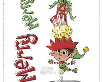 Whimsy Stamps -- Balancing Elf -- NEW -- (#2857)
