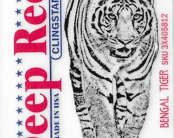 Deep Red Cling Stamps --  Bengal Tiger  -- NEW -- (#3222)