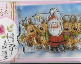 Wild Rose Studio Clear Stamp   --  NEW -- Jolly Reindeer  --  (#2458)