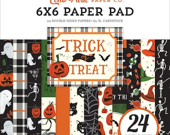 6 x 6 Paper Pad ~ Trick or Treat ~ Double sided NEW (#3584)