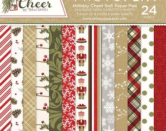 6 x 6 Paper Pad ~ Holiday Cheer ~ Double sided  NEW  (#2508)