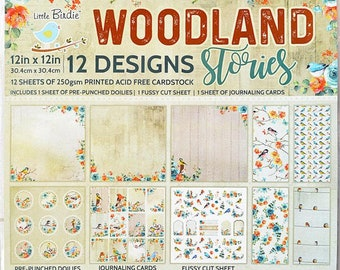 6 x 6 Paper Pad ~ Woodland Stories ~ Double sided ~ NEW (#3749)