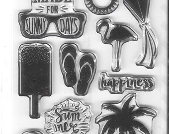 Echo Park Cling Stamps --  Sunny Days  -- NEW -- (#3947)