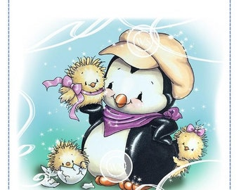 Whimsy Stamps -- Penguin's Cute Chicks  -- NEW  -- (#2703)