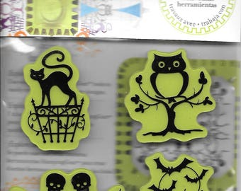 Halloween Stamp set  --  NEW  --  Halloween Icons  --  Inkadinkado Brand  --  (#2481)