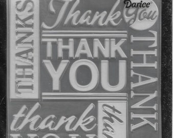 Darice Embossing Folder -- New -- Thank You -- (#3107)