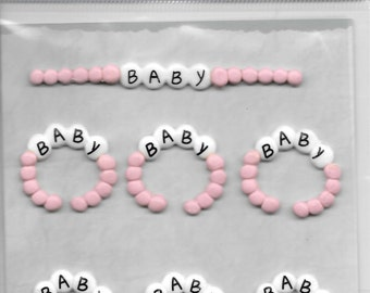 Jolee's -- Baby Girl Teethers --  NEW --  dimensional stickers  (#1712)