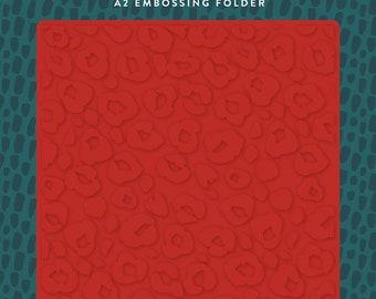 Echo Park Embossing Folder  --  New  -- Leopard  --  (#4081)