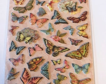 K & C - SW Floral Butterfly Pillow Stickers - NEW - (#3015)
