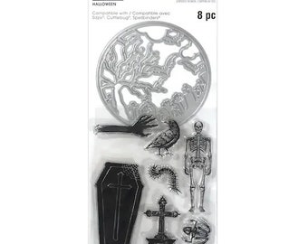 Halloween -  Die and Stamp set    -  NEW  (#3888)