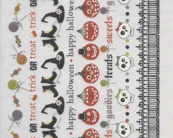 Rub On's  -- Imaginisce Brand  - Halloween Rub On's  -- NEW -- Self Adhesive Rub Ons  --    (#1408)