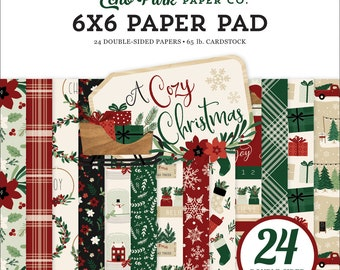 6 x 6 Paper Pad ~ A Cozy Christmas  ~ Double sided  NEW  (#3320)