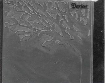 Darice Embossing Folder -- New -- Leafy Tree Trunk -- (#3039)