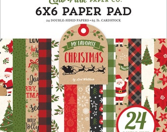 6 x 6 Paper Pad ~  My Favorite Christmas ~ Double sided  NEW  (#3323)