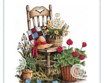 Whimsy Stamps --  Garden Chair  -- NEW -- (#3209)