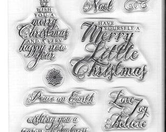 Recollections Stamp Set -- Christmas Sentiments -- NEW -- (#3339)