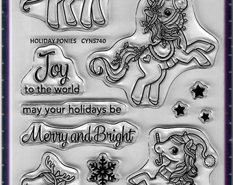 Your Next Stamp --  Holiday Ponies  -- NEW -- (#3687)