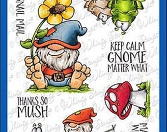 Whimsy Stamps -- Gnome Matter What -- NEW -- (#3181)
