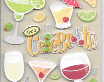 K & Company Grand Adhesions --  Confetti Celebration  --  NEW --  dimensional stickers  (#1491)