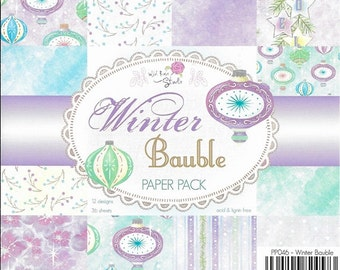 6 x 6  Paper Pad  ~~  Winter Bauble  ~~  Christmas  ~~ Wild Rose Studio Brand  ~~  NEW  (#1871)