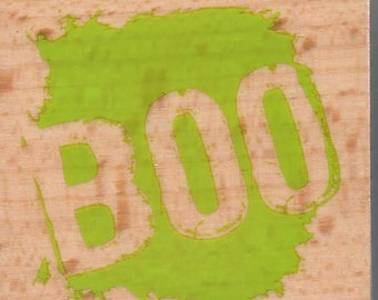 Halloween Sentiment Stamp --   NEW  -- Wood Mounted Rubber Stamp --  Studio G Brand --   (#1288)