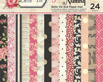 6 x 6 Paper Pad ~ Belle Vie  ~ Double sided NEW (#2764)