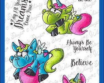 Whimsy Stamps --   Unicorn Magic   -- NEW  -- (#4258)