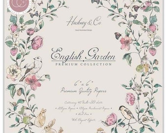 6 x 6 Paper Pad ~ English Garden ~ Double sided  - NEW (#3567)