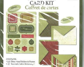Deja Views -- Christmas Card Kit -- (22 pieces) -- NEW --  Makes 4 cards --  (#1485)