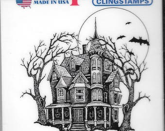 Deep Red Cling Stamps -- Haunted Mansion  -- NEW -- (#2489)