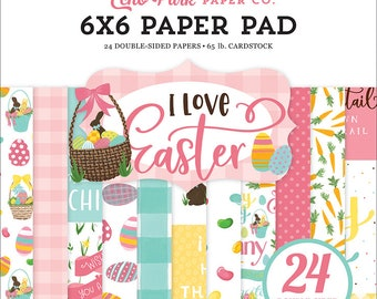 6 x 6 Paper Pad ~ I Love Easter ~ Double sided NEW (#3581)