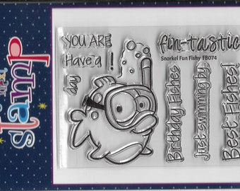 Your Next Stamp --  Snorkel Fun Fishy  -- NEW -- (#3675)