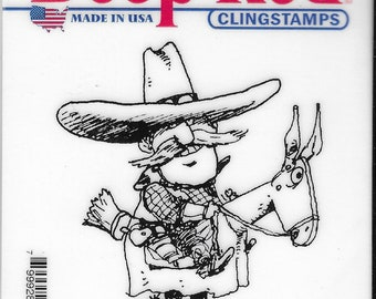 Deep Red Cling Stamps --   Cowboy   -- NEW -- (#3801)