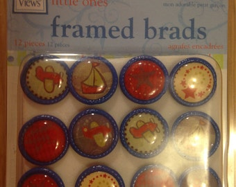 Deja Views -- Framed Brads   -- 12 pieces -- My Precious Boy -- NEW  (#853)
