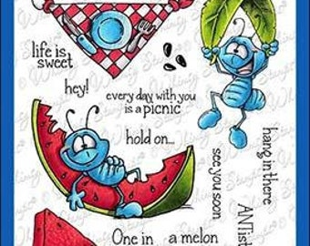 Whimsy Stamps -- Ants at a Picnic -- NEW  -- (#3211)