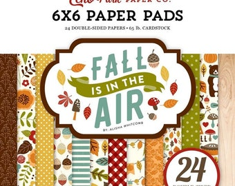 6 x 6 Paper Pad ~ Fall Is In The Air ~ Double sided NEW (#2756)
