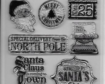 Holiday Trendz Clear Stamp Set --  NEW  -- Vintage Holiday   --      (#1854)