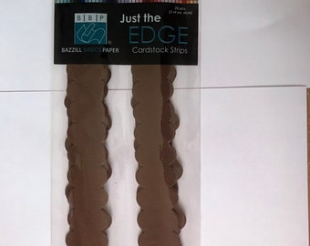 Just The Edge Card stock Borders  -  10 styles -  20 pieces -  NEW  - (#3165)