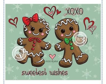 Whimsy Stamps --   Gingerbread Love   -- NEW -- (#4104)